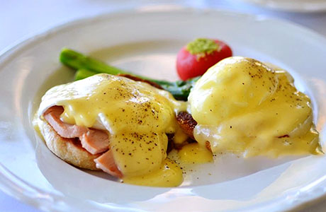 Our special eggs benedict