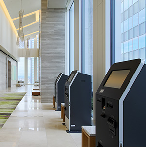 Automatic currency exchange machine (15th floor lobby)