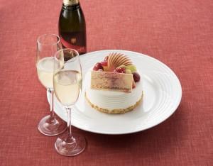 【大切な記念日に ケーキ&シャンパン付き】 ~Sweet Anniversary~Not Too Late Celebration♡