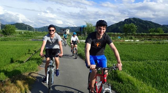 飛騨古川をサイクリング