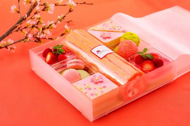お花見デザートボックス
