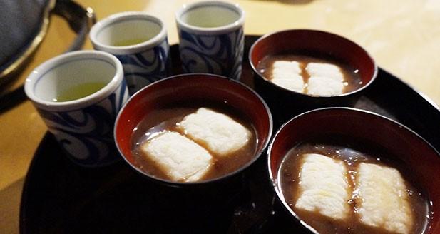 Ozenzai(Sweet red bean soup)