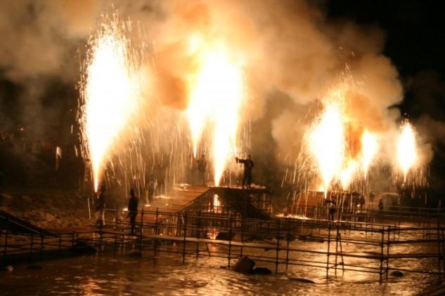 手筒花火のイメージ