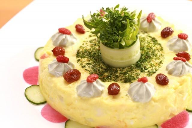 黄色いポテトサラダ