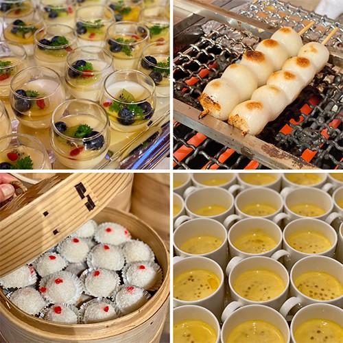 中国料理や和食のデザートも登場